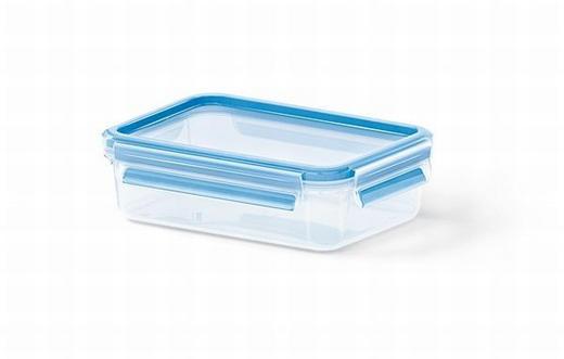 FÖRVARINGSBURK, 0,8L - blå/transparent, Basics, plast (19.7/13.6/5.9cm) - EMSA