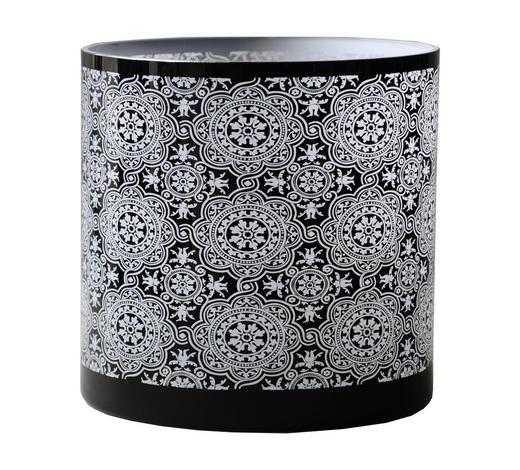 TEELICHTGLAS  - Schwarz/Weiß, Basics, Glas (20/20cm) - Ambia Home