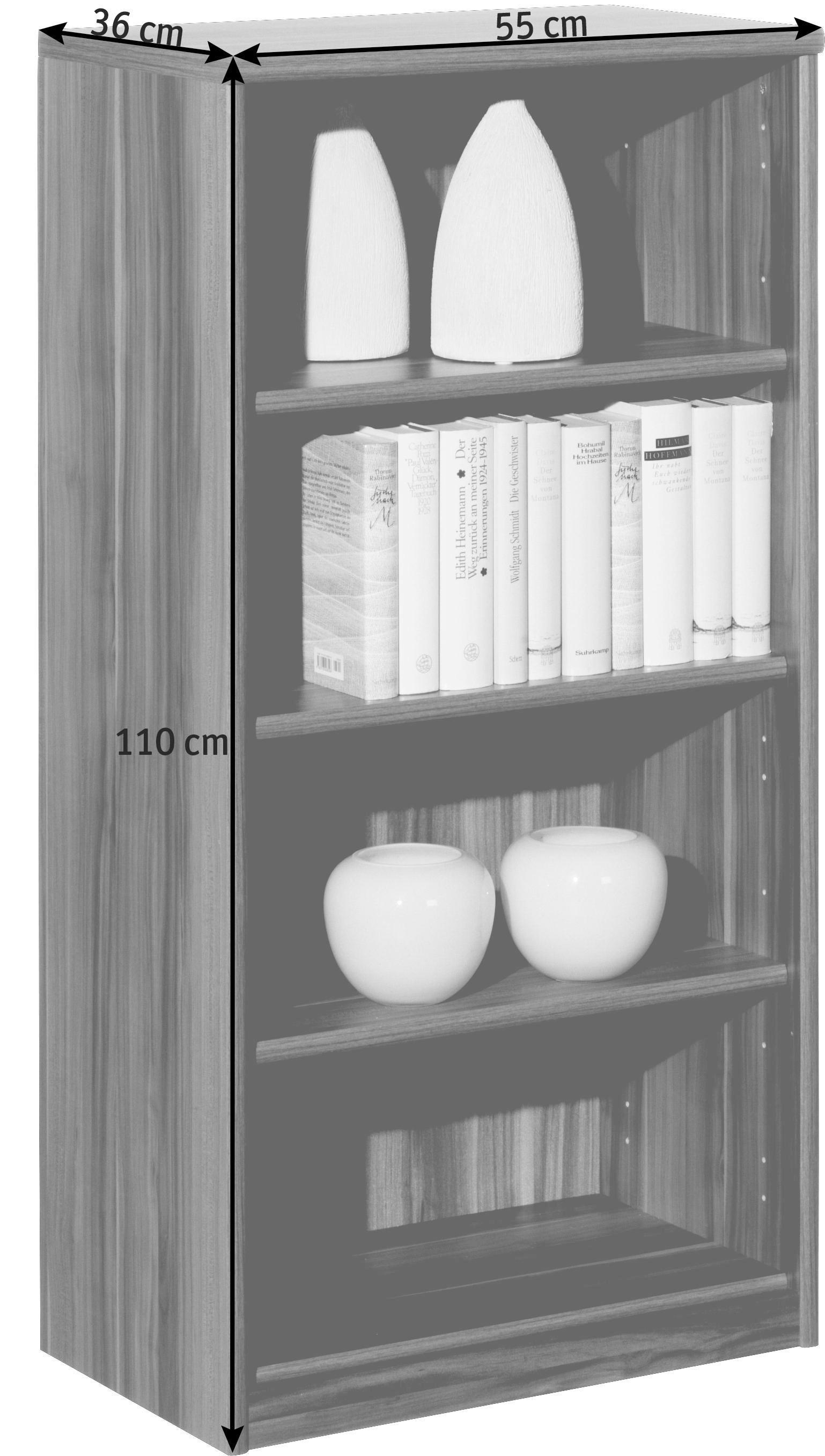 REGAL in 55/110/36 cm Ahornfarben - Ahornfarben, KONVENTIONELL, Holzwerkstoff (55/110/36cm) - CS SCHMAL