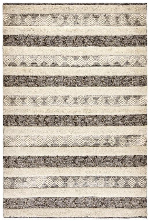 HANDWEBTEPPICH  160/230 cm  Schwarz, Weiß - Schwarz/Weiß, Basics, Textil (160/230cm) - Linea Natura