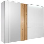 SKŘÍŇ S POSUVNÝMI DVEŘMI, dýhované, trámový dub, bílá, barvy dubu - bílá/barvy dubu, Design, kov/dřevo (302/229,6/71,4cm) - Ambiente by Hülsta