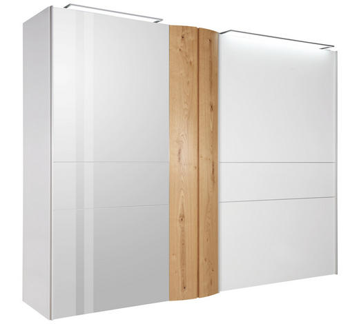 SKŘÍŇ S POSUVNÝMI DVEŘMI, trámový dub, bílá, barvy dubu - bílá/barvy dubu, Design, kov/dřevo (302/229,6/71,4cm) - Ambiente by Hülsta