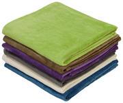 Kuscheldecke Bella - Taupe/Violett, KONVENTIONELL, Textil (130/170cm) - Ombra