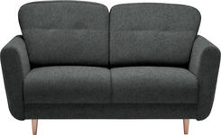 ZWEISITZER-SOFA Anthrazit - Anthrazit, Design, Holz/Textil (154/90/93cm) - Hom`in