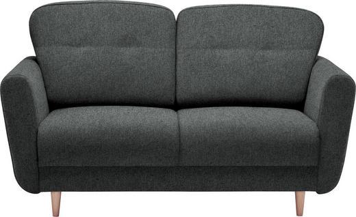 ZWEISITZER-SOFA in Textil Anthrazit - Anthrazit, Design, Holz/Textil (154/90/93cm) - Hom`in