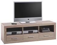 LOWBOARD Sonoma Eiche  - Eichefarben/Silberfarben, Design, Holzwerkstoff/Kunststoff (147/49/45cm) - Xora