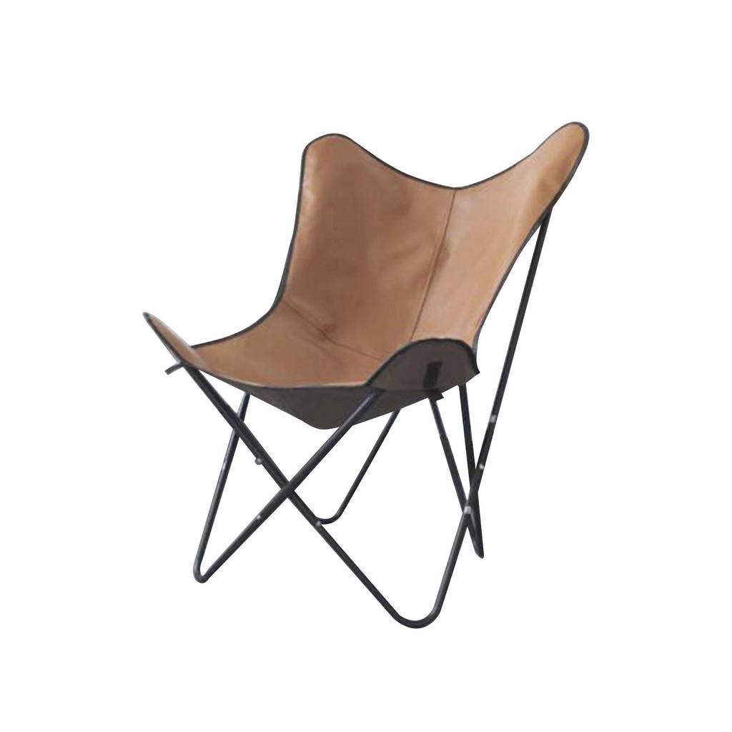 Image of Ambia Home Stuhl in metall, textil braun, schwarz , Kbmy-210706101 , Uni , 78.5x101x72 cm , lackiert,Lederlook , 0031690726