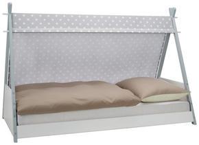 SÄNG - vit/grå, Modern, trä/textil (207/137/107cm) - Carryhome