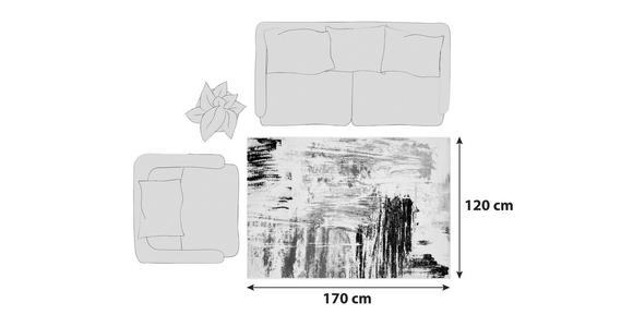 Webteppich Rot/Beige/Grau/ Schwarz Metro 120x170 cm - Beige/Rot, KONVENTIONELL, Textil (120/170cm) - Ombra
