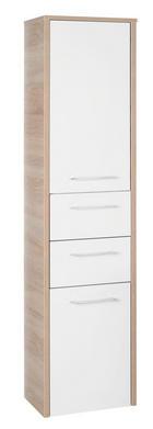 MIDISCHRANK - Chromfarben/Eichefarben, Design, Holzwerkstoff/Kunststoff (40/160/33cm) - XORA