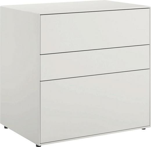 LOWBOARD lackiert Weiß - Schwarz/Weiß, Design (64/64/44,8cm) - Now by Hülsta