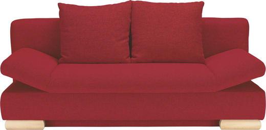 SCHLAFSOFA Rot - Rot/Buchefarben, LIFESTYLE, Holz/Textil (195/75/90/145cm) - NOVEL