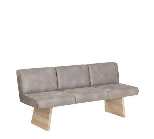 SITZBANK 180/84/66,5 cm  in Eichefarben, Grau - Eichefarben/Grau, KONVENTIONELL, Holz/Textil (180/84/66,5cm) - Voglauer