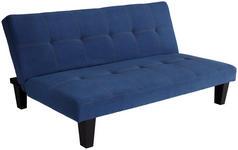 SCHLAFSOFA MALTA - Blau/Schwarz, Basics, Holz/Kunststoff (180/76/91cm) - Ombra