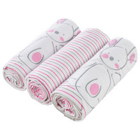 PLATNENA PELENA - pink/bijela, Basics, tekstil (75/75cm) - My Baby Lou