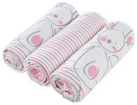 STOFFWINDEL 3-teilig  - Pink/Weiß, Basics, Textil (75/75cm) - My Baby Lou