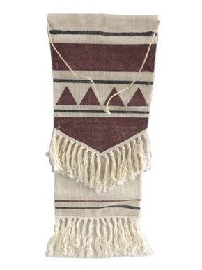 VÄGGDEKORATION - beige/röd, Lifestyle, textil (30/80cm) - Ambia Home