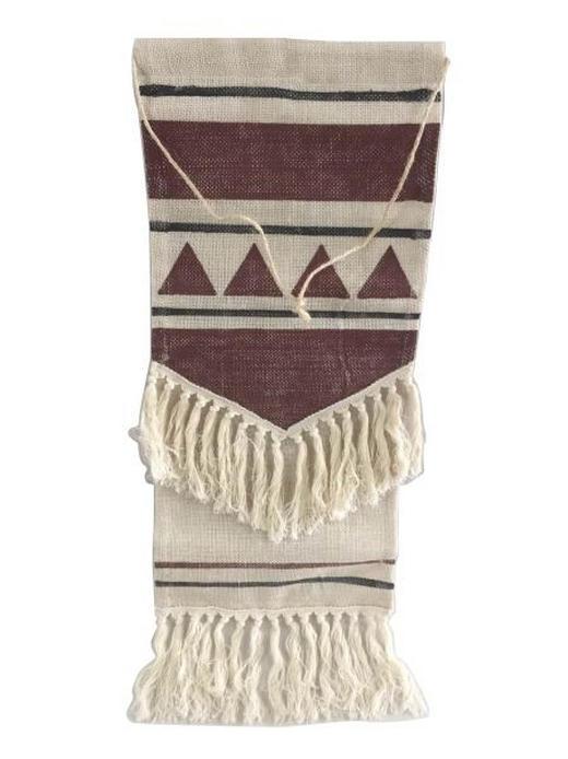 WANDDEKO - Beige/Rot, LIFESTYLE, Textil (30/80cm) - Ambia Home