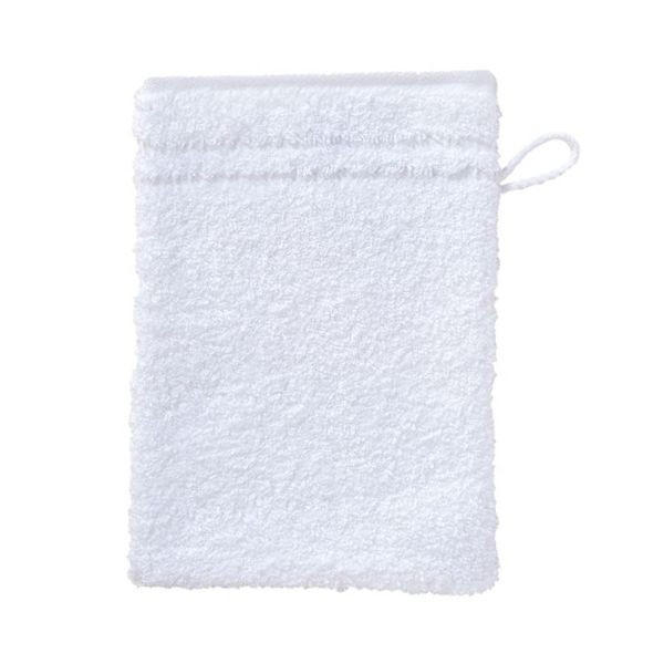 WASCHHANDSCHUH - Weiß, Basics, Textil (22/16cm) - VOSSEN