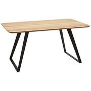 JÍDELNÍ STŮL, masivní, divoký dub, černá, barvy dubu - černá/barvy dubu, Design, kov/dřevo (160/90/76cm) - Voleo