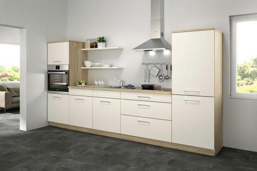 Küchenblock ohne E-Geräte 330 cm - Eichefarben/Magnolie, Design (330cm) - Set one by Musterrin