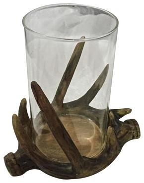LJUSLYKTA - klar/brun, Lifestyle, glas/plast (14/13,5/11cm) - Ambia Home