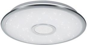 LED-DECKENLEUCHTE - Chromfarben/Weiß, KONVENTIONELL, Kunststoff/Metall (42/7cm) - Novel