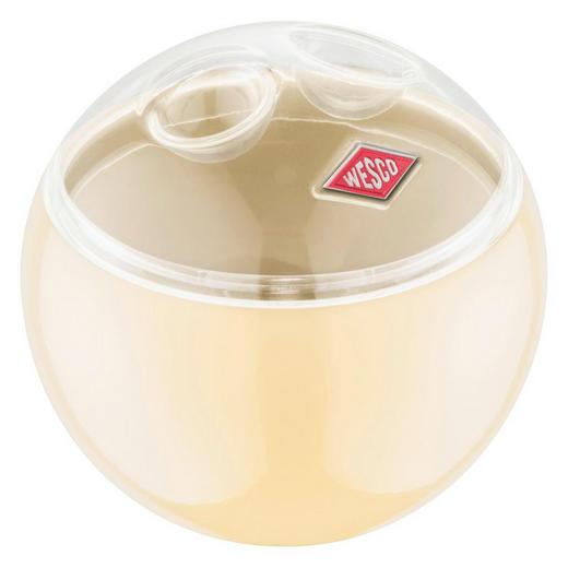 VORRATSDOSE - Transparent/Creme, Kunststoff/Metall (12,5/11,9cm) - Wesco