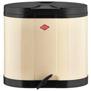 ABFALLSAMMLER 2X15 L  - Creme/Schwarz, Basics, Kunststoff/Metall (34/28,5/28,5cm) - Wesco