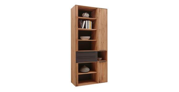 REGAL Buche massiv Buchefarben, Schlammfarben - Schlammfarben/Dunkelbraun, Design, Holz/Kunststoff (92/205,5/39,5cm) - Valnatura