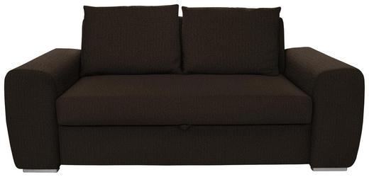 SCHLAFSOFA in Textil Dunkelbraun - Chromfarben/Dunkelbraun, Design, Holz/Textil (199/92/97cm) - Hom`in