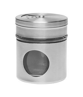 KRYDDBURK - transparent/rostfritt stål-färgad, Basics, metall/glas (5/6cm) - Homeware