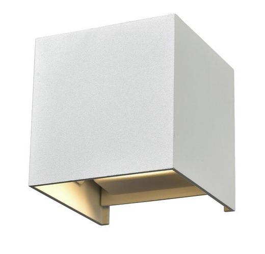 WANDLEUCHTE - Weiß, MODERN, Metall (10/10/10cm)