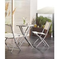 VRTNA SKLOPIVA STOLICA - boje srebra/smeđa, Trend, metal/tekstil (46/82/58cm) - Boxxx