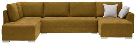 WOHNLANDSCHAFT in Textil Gelb - Gelb/Silberfarben, Design, Kunststoff/Textil (208/350/168cm) - Xora