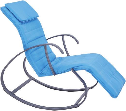 SCHAUKELLIEGE Stahl pulverbeschichtet Anthrazit, Blau - Blau/Anthrazit, Design, Textil/Metall (66/101/108/138cm) - Ambia Garden