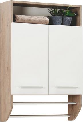 VÄGGHÄNGT SKÅP - vit/kromfärg, Design, metall/träbaserade material (60/87/20cm) - Xora