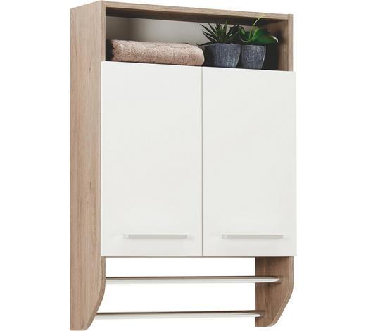 ZÁVĚSNÁ SKŘÍŇKA, barvy dubu - bílá/barvy dubu, Design, kov/kompozitní dřevo (60/87/20cm) - Xora