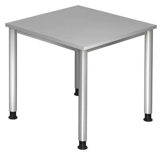 SCHREIBTISCH Grau, Silberfarben - Silberfarben/Grau, KONVENTIONELL, Metall (80/68-76/80cm)