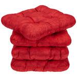 Sitzkissen Selina - 4er Pack - Rot, MODERN, Textil (38/38cm) - Luca Bessoni