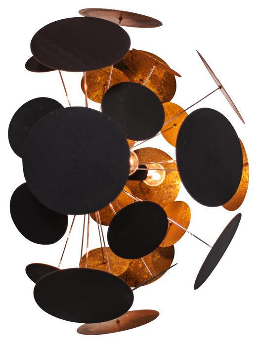 WANDLEUCHTE - Goldfarben/Schwarz, Design, Metall (50/30cm) - By-Rydens