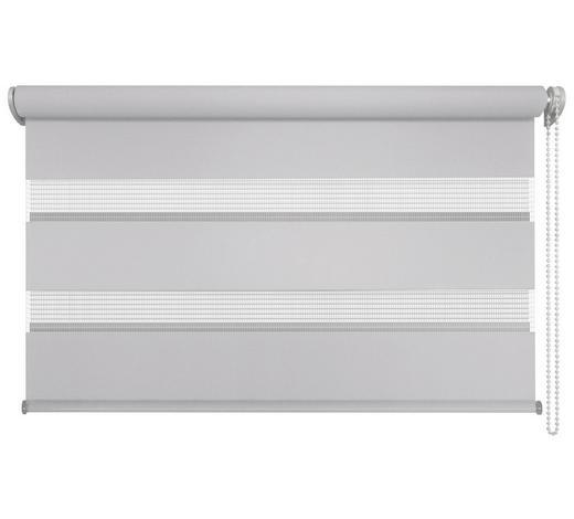 DUOROLLO  halbtransparent   80/210 cm   - Weiß/Grau, Basics, Textil (80/210cm)