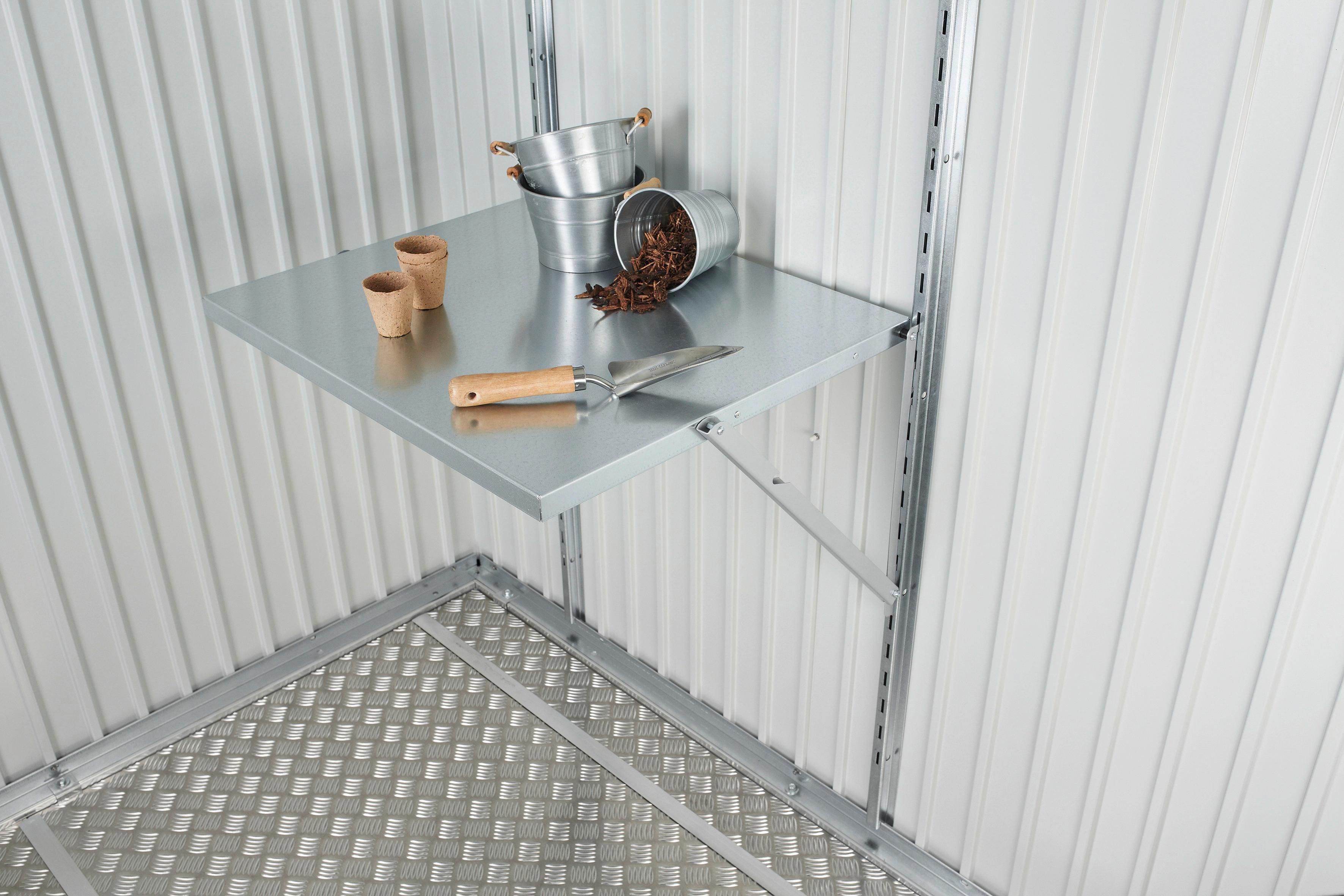 GERÄTESCHRANK-KLAPPTISCH - Silberfarben, Design, Metall (69/60cm)