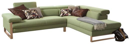 WOHNLANDSCHAFT Hellgrün Webstoff - Eichefarben/Hellgrün, Design, Textil (281/230cm) - Chilliano