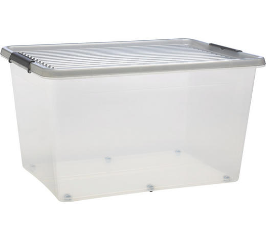 BOX MIT DECKEL 76/42/57 cm - Klar, Basics, Kunststoff (76/42/57cm) - Plast 1