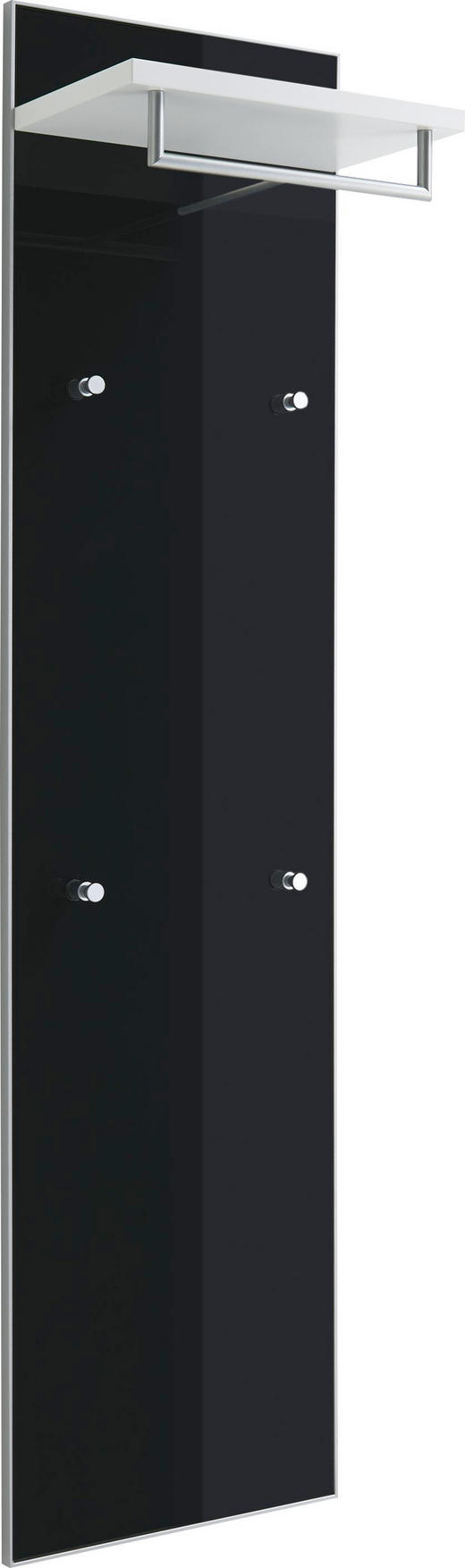 GARDEROBENPANEEL - Anthrazit/Weiß, Design, Glas/Holzwerkstoff (42/170/27cm) - Novel
