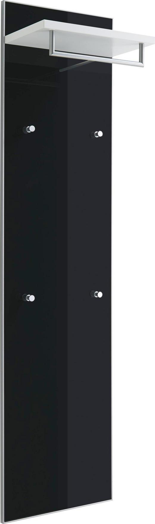 GARDEROBENPANEEL lackiert Anthrazit, Weiß - Anthrazit/Weiß, Design, Glas (42/170/27cm)