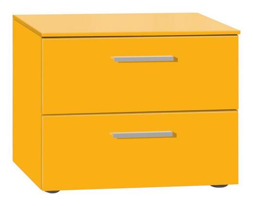NACHTKÄSTCHEN lackiert Gelb - Gelb/Alufarben, Design (50/41/41cm) - XORA