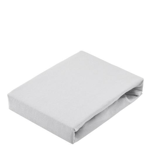 SPANNBETTTUCH Jersey Silberfarben - Silberfarben, Basics, Textil (200/200cm) - Bio:Vio