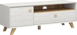 LOWBOARD melaminharzbeschichtet Weiß - Eichefarben/Weiß, Design, Holz (141/50/45cm) - Linea Natura